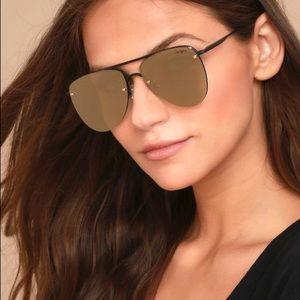 9b83d82cbb10b le specs Accessories - Le Specs matte black and gold prince Aviators